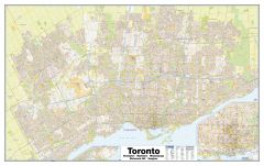 Greater Toronto Wall Map - Street Detail - Extra Large Map