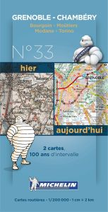 Michelin Historical Map - Grenoble/Chambery (Pre WW1 & Today)