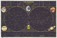 Heavens - Published 1970 Map