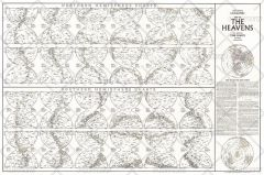 Heavens Star Chart - Published 1970 Map
