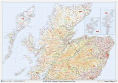 Highlands & Islands Postcode Sector Wall Map (S19) Map