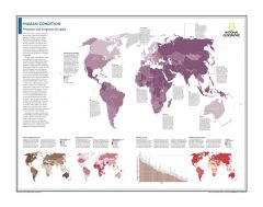 Human Condition: Progress and Ongoing Struggle - Atlas of the World, 10th Edition Map