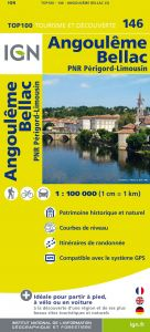 IGN Top 100 - Angouleme / Bellac / PNR Perigord-Limousin