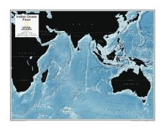 Indian Ocean Floor - Atlas of the World, 10th Edition Map