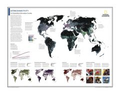 Interconnectivity: An Expanding Information Society - Atlas of the World, 10th Edition Map
