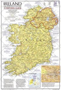 Ireland and Northern Ireland Visitors Guide  -  Published 1981 Map