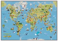 Kids Cartoon Map of the World Map