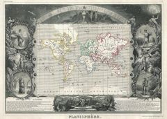 Levasseur Map of the World (1847) Map