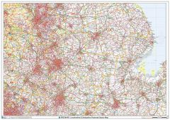 Lincolnshire & Derbyshire Postcode Sector Wall Map (S11) Map