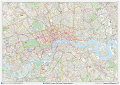 London City Centre Postcode District Wall Map (D12) Map
