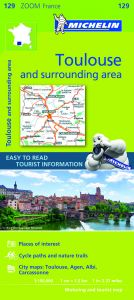 Michelin Zoom Map - 129 - Toulouse & Surrounding Areas