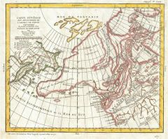 Map of Alaska, the Pacific Northwest and the Northwest Passage (1772) Map