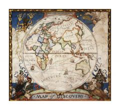 Map of Discovery, Eastern Hemisphere Map