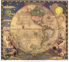 Map of Discovery, Western Hemisphere - Published 1928 Map
