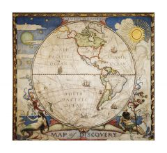 Map of Discovery, Western Hemisphere Map