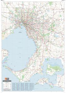 Melbourne & Region Supermap Map