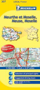Michelin Local Map - 307-Meuse, Meurthe-et-Moselle, Moselle