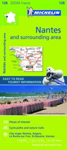 Michelin Zoom Map - 128 - Nantes & Surrounding Areas