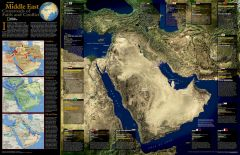 Middle East, Crossroads of Faith and Conflict - Published 2002 Map