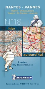 Michelin Historical Map - Nantes/Vannes (Pre WW1 & Today)