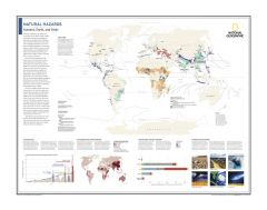 Natural Hazards: Humans, Earth, and Risks - Atlas of the World, 10th Edition Map