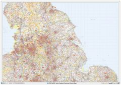 North England Postcode District Wall Map (D4) Map