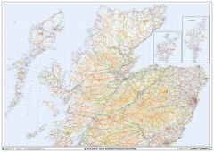 North Scotland Postcode District Wall Map (D6) Map