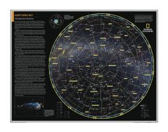 Northern Sky: Charting the Heavens - Atlas of the World, 10th Edition Map