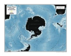 Ocean Floor around Antarctica - Atlas of the World, 10th Edition Map