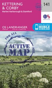 OS Landranger Active - 141 - Kettering & Corby