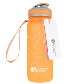 Ordnance Survey - Water Bottle 650ml - Orange