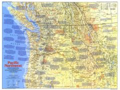 Pacific Northwest   Side 1 - Published 1986 Map