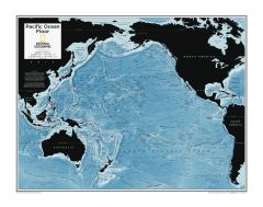Pacific Ocean Floor - Atlas of the World, 10th Edition Map