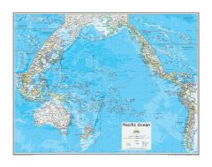 Pacific Ocean Political - Atlas of the World, 10th Edition Map