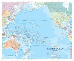 Pacific Ocean Wall Map