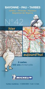 Michelin Historical Map - Pau/Tarbes (Pre WW1 & Today)