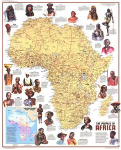 Peoples of Africa  -  Published 1971 Map