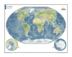 Physical World Map - Atlas of the World, 10th Edition Map