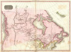 Pinkerton Map of British North America or Canada (1818) Map