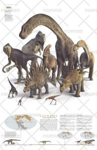 Planet of the Dinosaurs Laurasia - Published 2007 Map