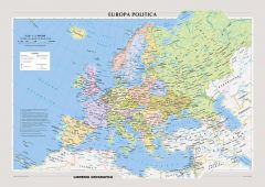 Political Europe Wall Map - Italian Map