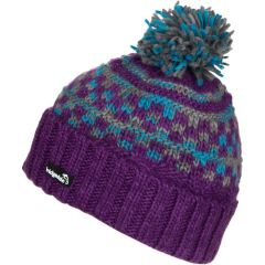 Bridgedale Purple/Blue Wool Pompom Hat - One Size