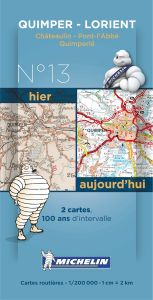 Michelin Historical Map - Quimper/Lorient (Pre WW1 & Today)