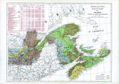 Railways Quebec and Maritime Provinces (1906) Map