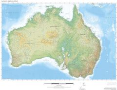 Regional Relief - Australia & New Zealand Map