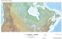 Regional Relief - Canada & Northern US Map