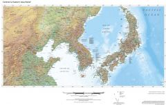 Regional Relief - Central & Eastern Asia Map