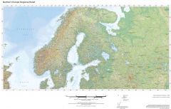 Regional Relief - Northern Europe Map