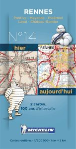 Michelin Historical Map - Rennes (Pre WW1 & Today)