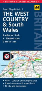 AA - Road Map Britain - The West Country & South Wales